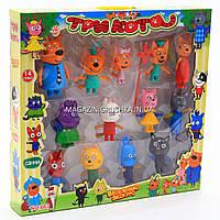 Детский игровой набор фигурок «Три кота» - 13 фигурок, арт. 663
