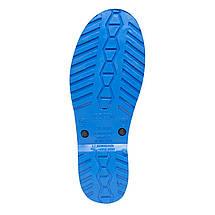 Сапоги резиновые OLDCOM женские Accent черные с синей подошвой, фото 2