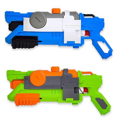 Водный пистолет WG190250 (36шт/2) с насосом, в пакете 22,5х50см