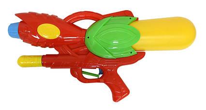 Водный пистолет 6878 (24шт) с насосом, в пакете 53см
