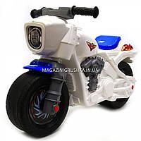 Детский Мотоцикл толокар Орион Белый 504. Популярный транспорт для детей от 2х лет