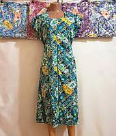 Женские халаты трикотаж (р.р. XL-5XL) Тайвань, от 5 шт., фото 1