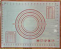 Коврик силиконовый 40 на 50 армированный, фирменный, антипригарный для выпечки,кондитерский