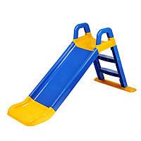 Детская горка для дачи и дома Долони (Фламинго) 0140/03 (Цвет желто-синий)