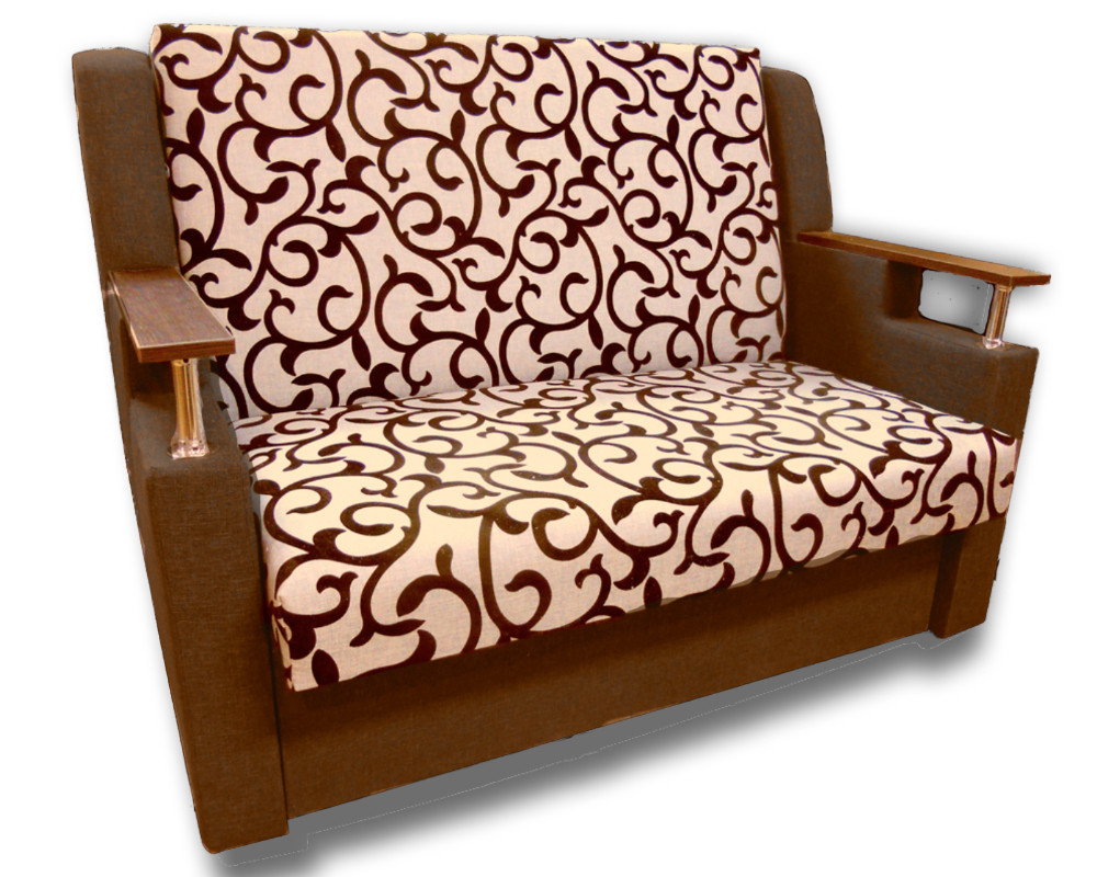 Диван розкладний Березня (Вензель коричневий). Дитячий диван з нішею для білизни