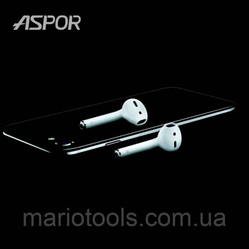 Bluetooth наушники Aspor AirPods S4004 wireless charger кейс с беспроводной зарядкой, Оригинал!