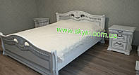 Кровать Орхидея с тумбочками из массива дуба