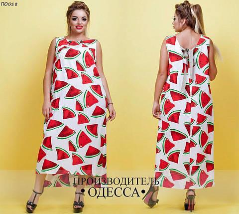 Модное  женское   платье свободного фасона  в  модном летнем принте  с  48  по 60 размер, фото 2