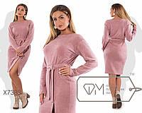 Модное женское платье из ангоры  батал 48-54
