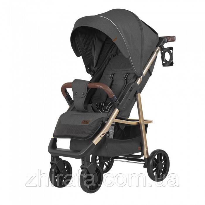 Прогулочная коляска CARRELLO Echo на золотой раме CRL-8508 Midnight Gray