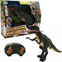 Динозавр игрушечный интерактивный «Тиранозавр» на радиоуправлении (звук, свет), 50 см (RS6124A)
