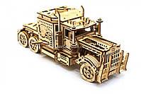 Деревянный механический конструктор Wood Trick Тягач.Техника сборки - 3d пазл, фото 5
