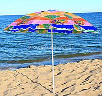 Зонт пляжный (диаметр - 1.8 м) №1 - серебро + наклон МН-0036, фото 1