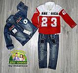 Джинсовый пиджак джинсовая куртка на 1 годик, фото 3