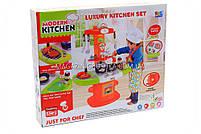 Детская игрушечная кухня с посудой (свет, звук, вода) 24 элемента 16808, фото 3