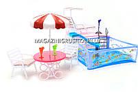 Детская игрушечная мебель Глория Gloria для кукол Барби Бассейн 2578. Обустройте кукольный домик, фото 2