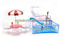 Детская игрушечная мебель Глория Gloria для кукол Барби Бассейн 2578. Обустройте кукольный домик, фото 3