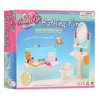 Детская игрушечная мебель Глория Gloria для кукол Барби Ванная 2820. Обустройте кукольный домик