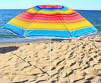 Зонт пляжный МН-0037 (диаметр - 1.8 м) - серебро, №5, фото 1