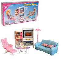 Детская игрушечная мебель Глория Gloria для кукол Барби Гостиная 2014. Обустройте кукольный домик