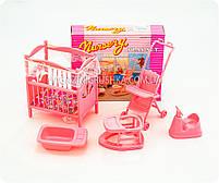 Детская игрушечная мебель Глория Gloria для кукол Барби Детская комната 9409. Обустройте кукольный домик, фото 2