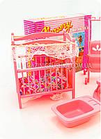 Детская игрушечная мебель Глория Gloria для кукол Барби Детская комната 9409. Обустройте кукольный домик, фото 3