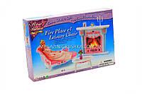 Детская игрушечная мебель Глория Gloria для кукол Барби Каминная 2618. Обустройте кукольный домик