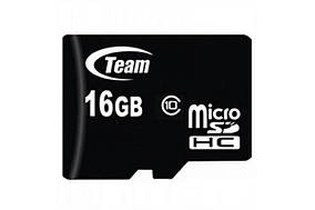 Карта памяти 16GB Team 10 Class MicroSDHC (MD-1267)