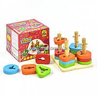 Игра сортер «Fun Game» Деревянная пирамидка (7377)