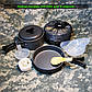 Туристический набор посуды DS-200 на 1-2 человек (походный, анодированный алюминий), фото 2