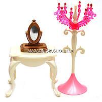 Дитяча іграшкова меблі Глорія Gloria для ляльок Барбі Спальня 1214. Облаштуйте ляльковий будиночок, фото 4