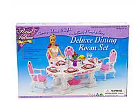 Детская игрушечная мебель Глория Gloria для кукол Барби Столовая 2612. Обустройте кукольный домик