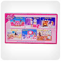 Детская игрушечная мебель Глория Gloria для кукол Барби Столовая 9712. Обустройте кукольный домик, фото 2