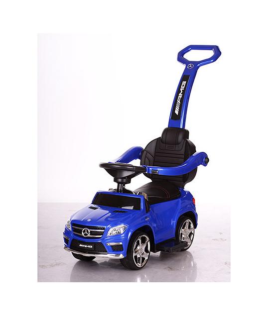 Детская машинка каталка-толокар Mercedes SX1578-9 синий, кож сиденье, EVA колеса, MP3