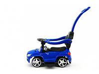 Детская машинка каталка-толокар Mercedes SX1578-9 синий, кож сиденье, EVA колеса, MP3, фото 2