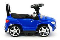 Детская машинка каталка-толокар Mercedes SX1578-9 синий, кож сиденье, EVA колеса, MP3, фото 3