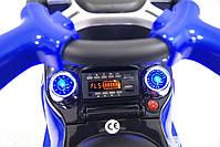 Детская машинка каталка-толокар Mercedes SX1578-9 синий, кож сиденье, EVA колеса, MP3, фото 4
