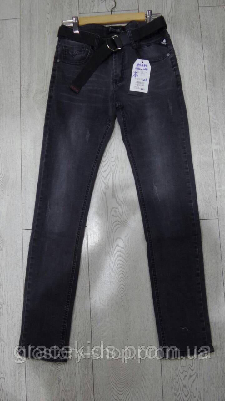 Черные джинсы для мальчиков подростковые оптом GRACE,разм 134-164 см