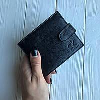 Мужской кожаный кошелек Calvin Klein черный (реплика)