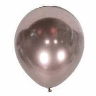 Латексные шары 12'' хром Kalisan Турция розовое золото (30 см), 50 шт