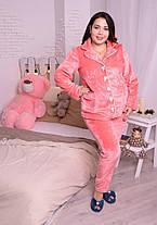 Элитный женский костюм для дома из плюшевой махры с 48 по 82 размер, фото 2