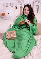 Модный тёплый женский махровый халат -плед, фото 3