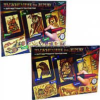 Детский набор для выжигания по дереву (2 рамки, 5 рисунков, 6 насадок + выжигатель), фото 4