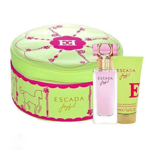 Подарунковий жіночий набір ESCADA Joyful парфумована вода 75ml + лосьйон 50ml, свіжий квітковий аромат