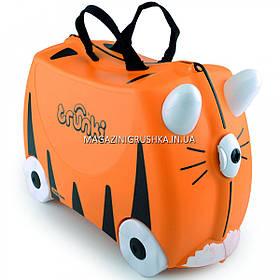 Детский чемодан для путешествий Trunki Tipu Tiger, 43х20х30 см (0085-WL01-UKV)
