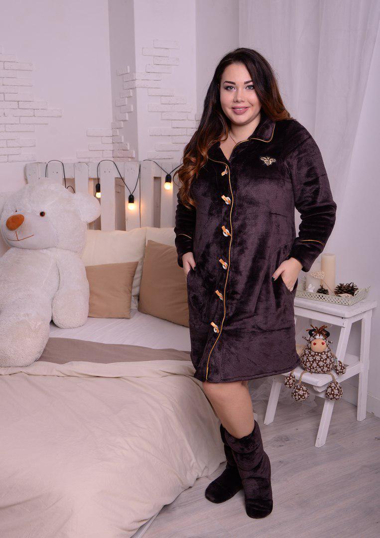 Красивый женский махровый халат класса ПРЕМИУМ с 48 по 82 размер