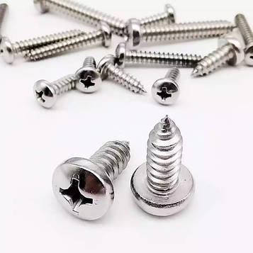 Саморез по металу нержавеющий MMG DIN 7981 2.9 х 6.5 (A2) 10 шт