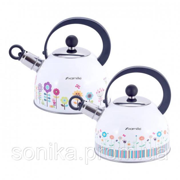 Чайник з нержавіючої сталі зі свистком Kamille 1,8 л KM-1079
