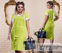 Элегантное женское платье украшенное кружевом с 48 по 60 размер