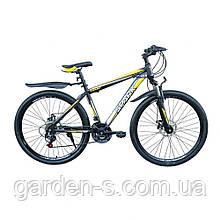 Велосипед Spark 27,5`` SHARP, рама - Сталь 19, Черный с желтым